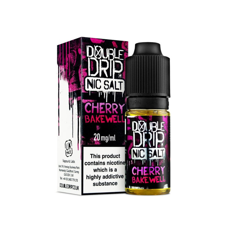 Cherry Bakewell Nic Salt 10ml by Double Drip
