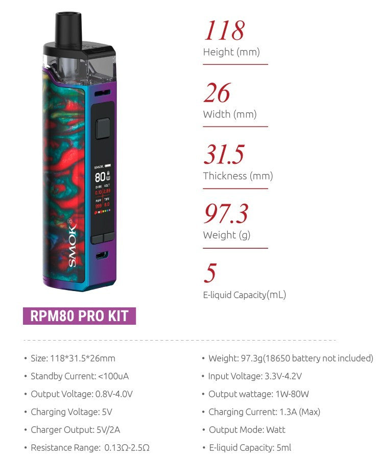 RMP80 and RPM80- Pro Kit by Smok