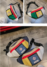 Laden Sie das Bild in den Galerie-Viewer, Bum Bag Used Patches Bauchtasche (bunt)