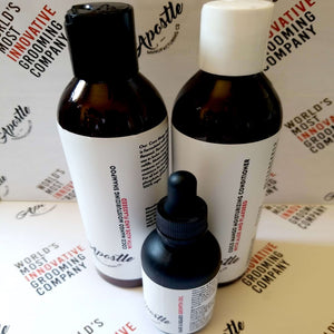 Hair and Beard Revitalization Kit (Shampoo, Conditioner and Oil)