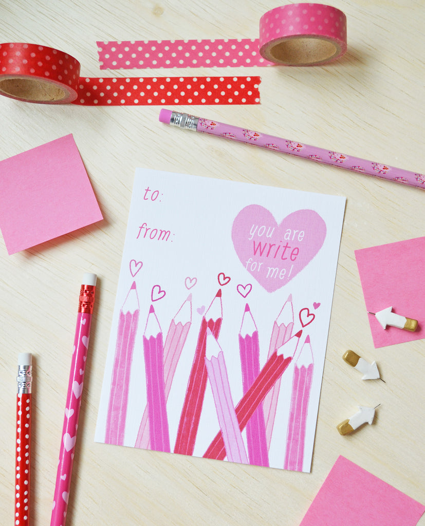 FREE Kid's Valentine's Day Printable - You are WRITE for me