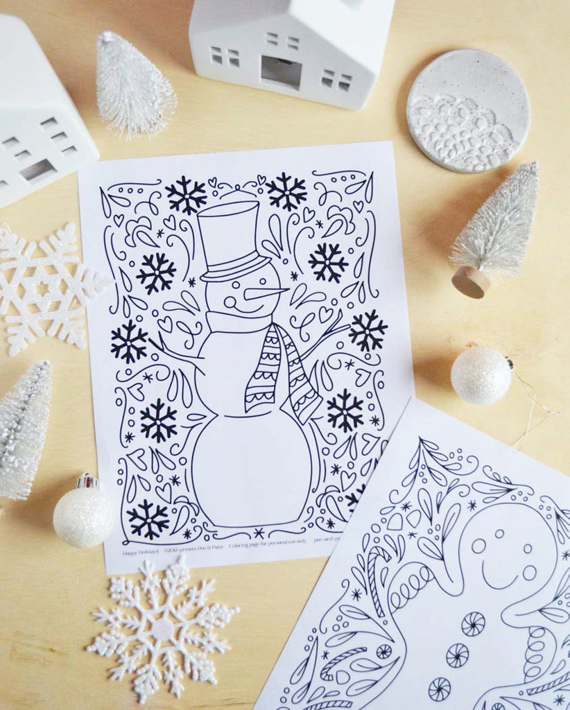FREE Holiday Coloring Pages