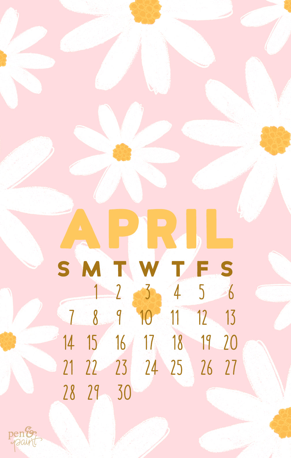 FREE April Desktop Background & Phone Wallpaper