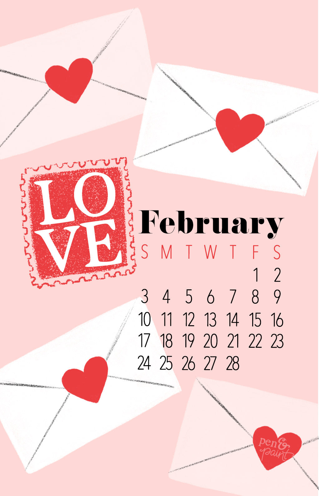 Free February 2019 Desktop & Wallpaper