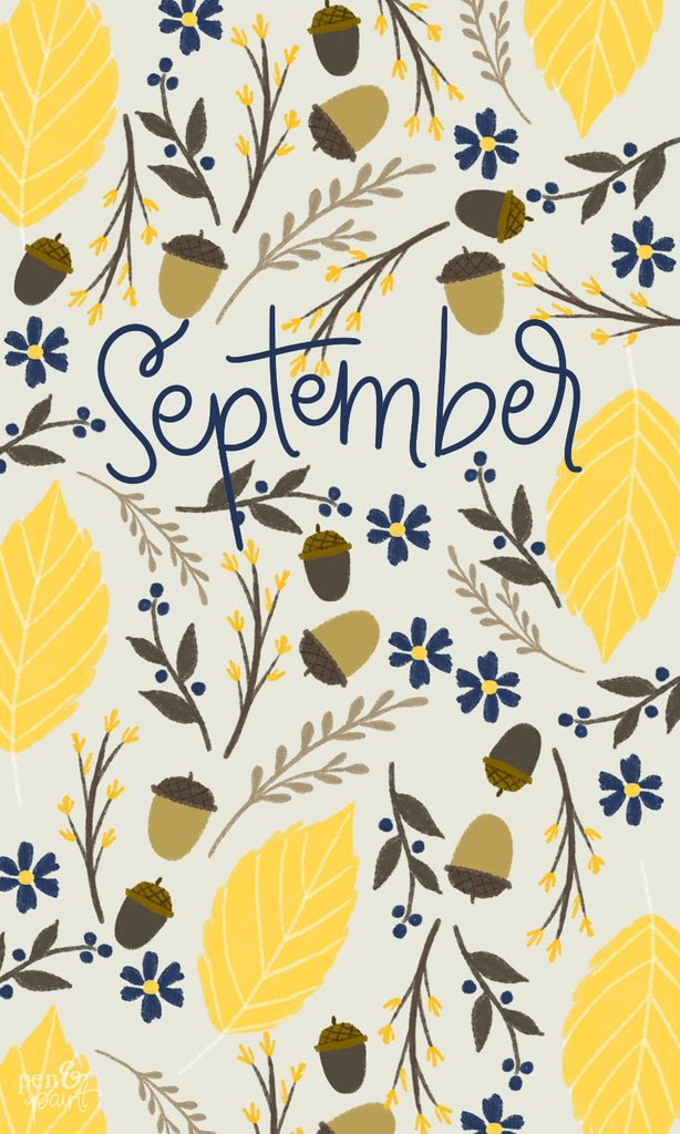 FREE September Wallpaper & Lockscreen