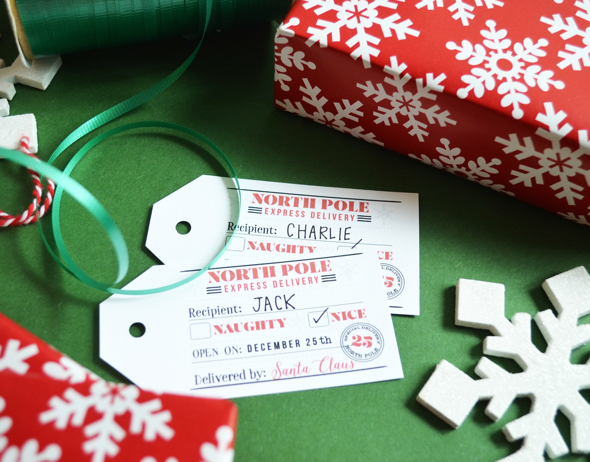 Free Gift Tags From Santa North Pole Express Pen Paint