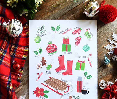 Christmas Favorites Art Print