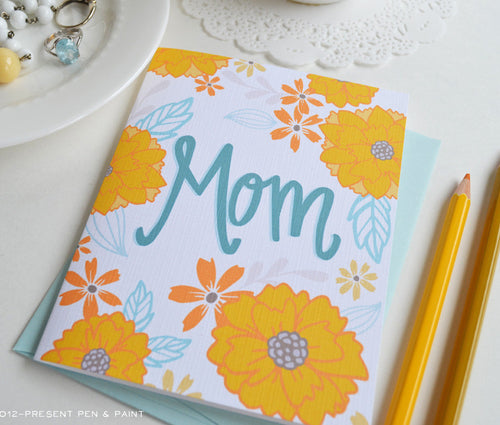 Mom Mother's Day Card Floral