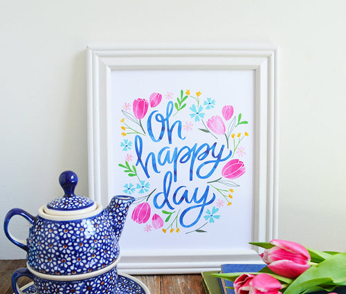Oh Happy Day, Spring Floral Print