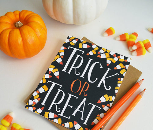 Trick or Treat, Happy Halloween card