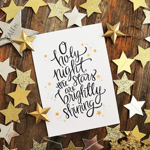 O holy night, Christmas art print