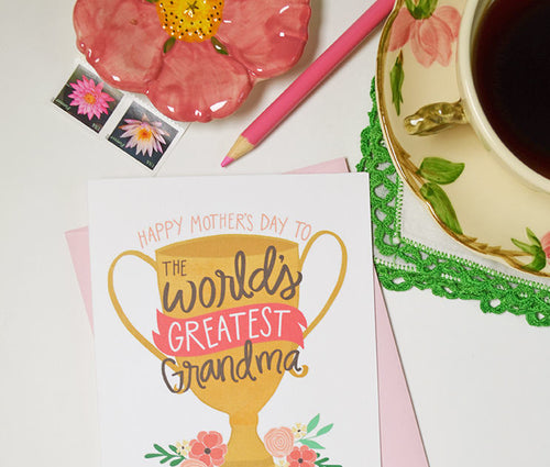 Happy Mother's Day to the World's Greatest Grandma card