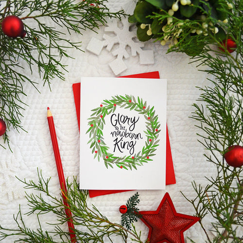 Joy to the world set of four Christmas Cards