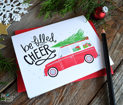 Be filled with cheer, Christmas Card