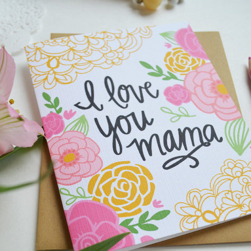 I love you Mama Mother's Day card MF830A