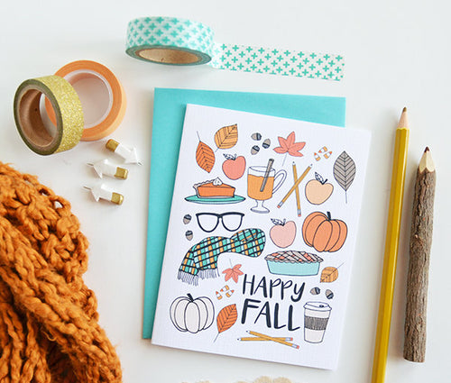 Hello Fall favorites card