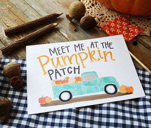 Meet me at the Pumpkin Patch fall art print