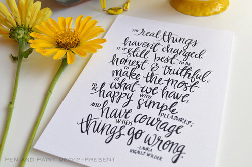 Real things in life art print