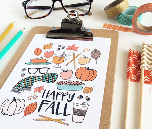 Happy Fall favorites Art Print