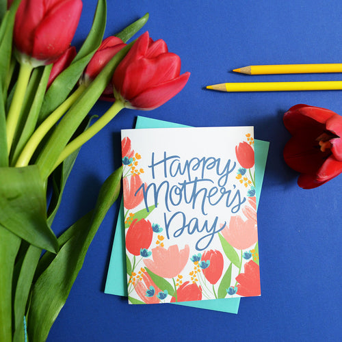 Happy Mother's Day, Tulips card MF860