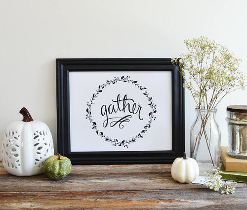 Gather Thanksgiving, Give Thanks Print