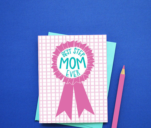 Best Stepmom ever Mother's Day card MF862