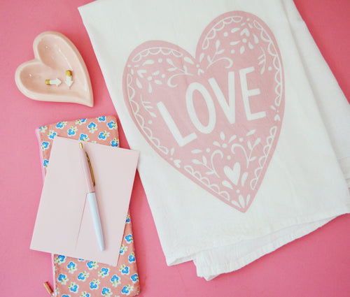 Love - Valentine Kitchen towel