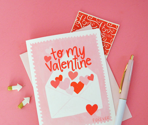 To my Valentine Forever Stamp greeting card