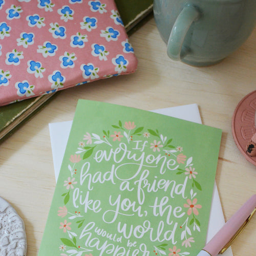 A friend like you, Greeting card, Thinking of you