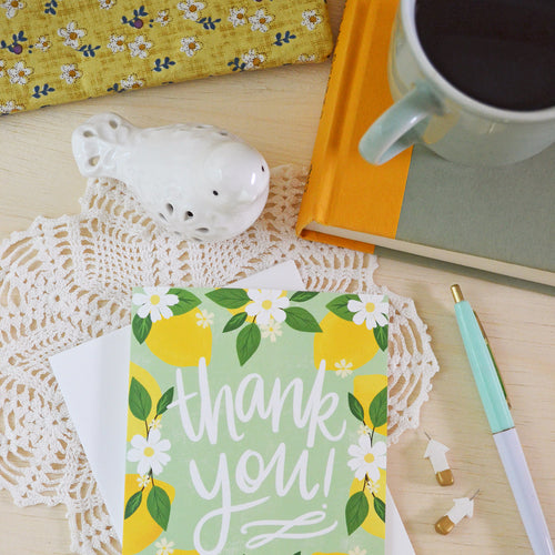 Thank you, Lemons, Greeting card