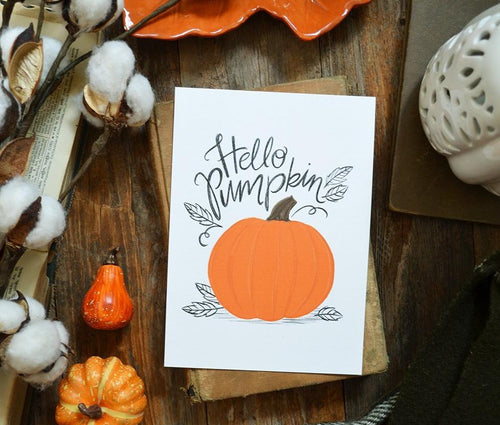 Hello Pumpkin Art Print