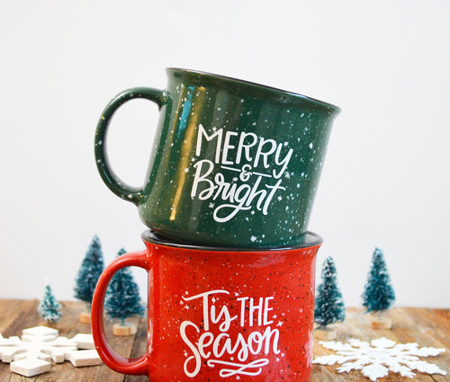 Tis the Season - Red Campfire Holiday Mug / Christmas Mug