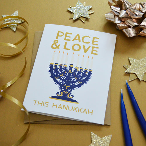 Peace & Love this Hanukkah Holiday Card