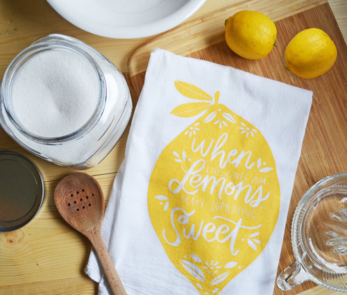 When life gives you lemons make something sweet - Kitchen towel