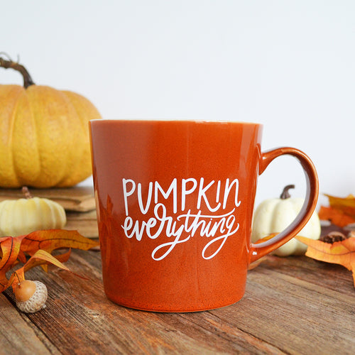 16 oz Fall Mug - Pumpkin Everything Ceramic Campfire Mug