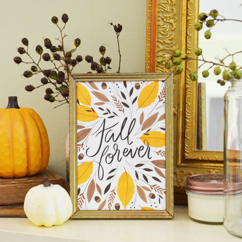 Fall Forever Seasonal Art Print