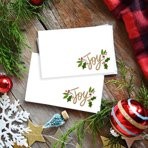 Holiday Christmas tags, Joy mini cards