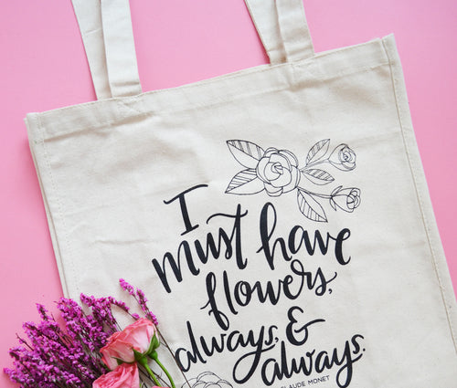 Flowers Always Farmer's Market tote bag