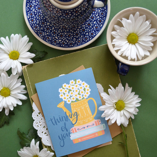 Thinking of you watering can card