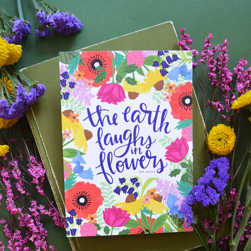 The Earth Laughs in Flowers Art Print