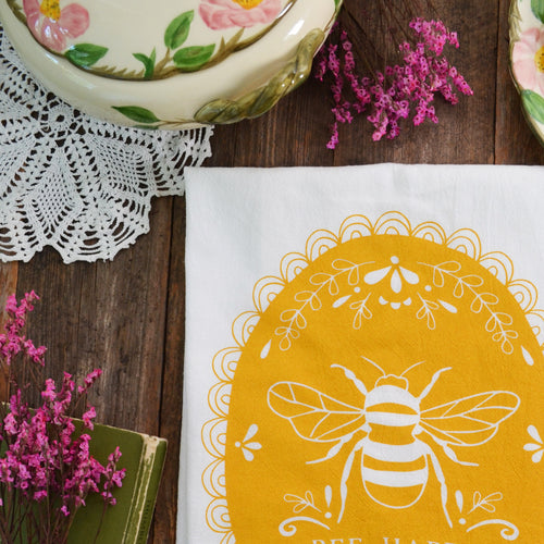 Bee Happy Kitchen towel