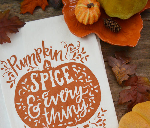 Pumpkin Spice Kitchen Towel