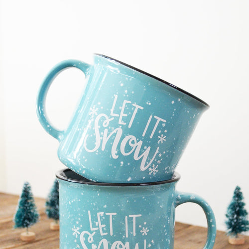 15 oz Let it Snow Holiday Ceramic Campfire Mug