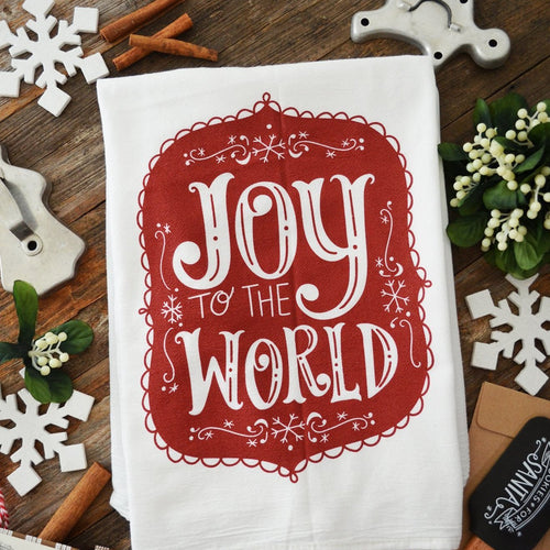 Joy to the World - Christmas/Holiday Kitchen Towel