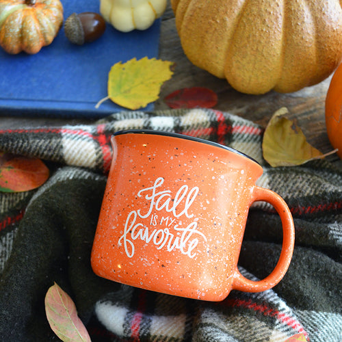 Fall is my Favorite Orange Campfire Mug 15 oz
