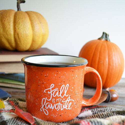 Fall is my Favorite Orange Campfire Mug