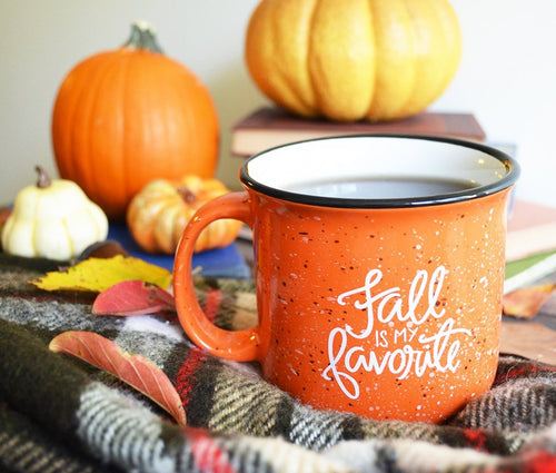 15 oz Fall is my Favorite Orange Campfire Mug