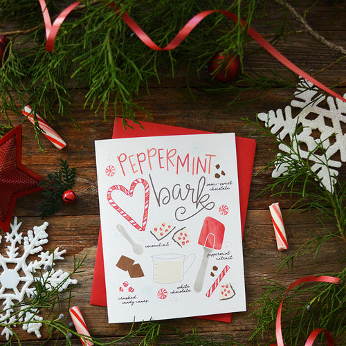 Peppermint Bark Card