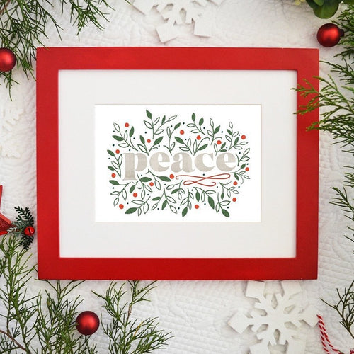 Peace - Christmas / Holiday Art Print