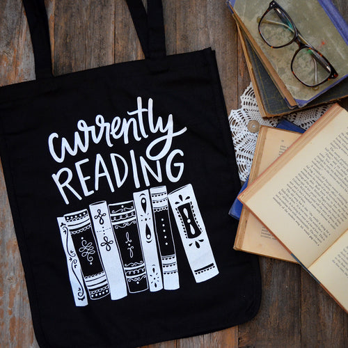 Currently Reading tote bag